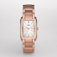 FOSSIL® Features A Touch Of Rose:Womens Adele Plated Stainless Steel Watch - Rose ES2731