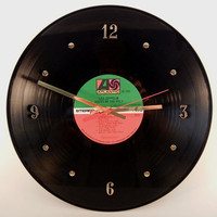 "LED ZEPPELIN Vinyl Record Wall Clock ""Houses Of The Holy"" by recordsandstuff"