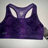 New with Tag Nike Sports Bra Pro combat compression Purple rain 485383-535 S~M~L