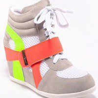Celena-08 Sneaker wedge — Feetomatic By AutoSquad Girlz