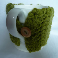 Crochet Mug Cosy Green With Wool