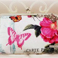Belle Rose Clutch - LIMITED EDITION {Handmade by Lw.}