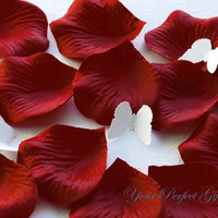 1000 pcs Berry Red Silk Rose Petals Wedding Flower Favor Decoration RP018