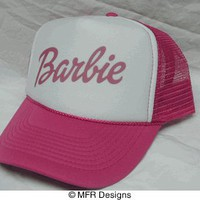 Barbie pink Trucker Hat mesh hat - Even More Trucker Hats