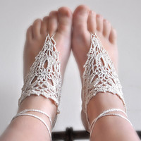Pattern - Barefoot Crochet Sandals (pdf file)