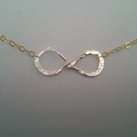 Infinity Necklace in Gold and Silver,Mixed Metal necklace for women