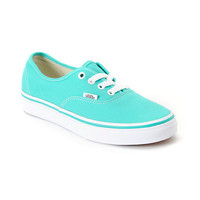 Vans Authentic Pool Green &amp; White Shoe