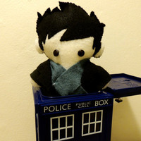 Sherlock BBC Benedict Cumberbatch Inspired Plush by SewCoolBows