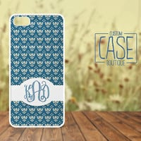 Personalized iPhone 4 / 4s or iPhone 5 Case - Plastic iPhone case - Rubber iPhone case - Monogram iPhone case - CB008