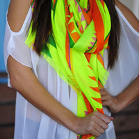 Let's Get Tribal Scarf: Yellow/Multi | Hope's