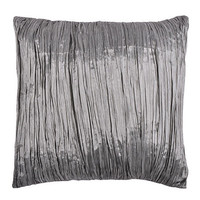Gray Pleated Throw Pillow Cover