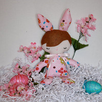 Baby's First Easter Pink Bunny Baby Doll by FrogBlossoms on Etsy