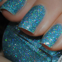 New! KLEANCOLOR  HOLO BLUE  Nail Polish~ HOLOGRAPHIC Glitter!