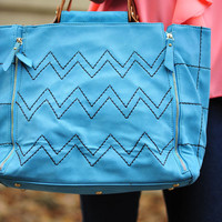 Her Teal Crush Purse: Suede | Hope's