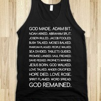 God Remained (Tank) - Text First