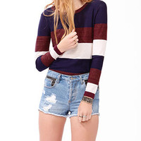 Metallic-Blend Colorblock Sweater | FOREVER 21 - 2030444716