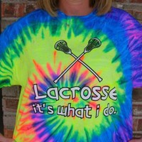 Amazon.com: Lacrosse It?s What I do Tie Dye T-shirt (Size=Youth-Large): Sports & Outdoors