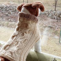 RESERVED for Elaine Burg Dog Sweater Hand Knit Winding by jenya2