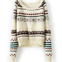 BlueBand  Beige Loose Tribe Sweater