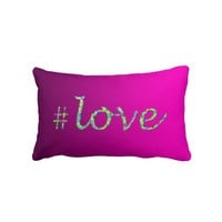 Hash Tag Love Rose - Lumbar Pillow from Zazzle.com