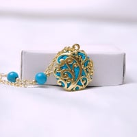 Real Silk Fabric Filled Gold Plated Oriental Charm by Myvera