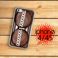 iPhone Case Chocolate Cupcake / Hard Case For iPhone 4 and iPhone 4S Chocolate Cake Plastic or Rubber Trim