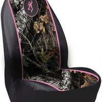 BROWNING BUCKMARK PINK AND MOSSY OAK CAMOUFLAGE UNIVERSAL SEAT COVER