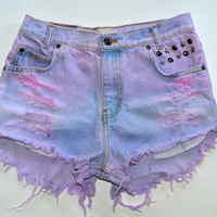 Cotton Candy Studded pastel shorts