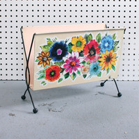 Winter's Moon ? Vintage Floral Magazine / Book Rack - SOLD