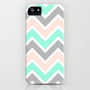 MUTED CHEVRON iPhone Case by nataliesales | Society6