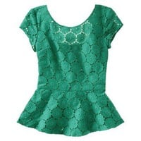 Target : Xhilaration® Juniors Peplum Lace Top - Assorted Colors : Image Zoom