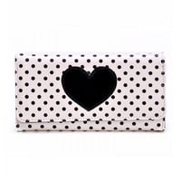 Polka Dot Print and Big Heart Purse — JewelryForever