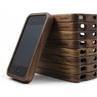 Vintage Walnut Wood iPhone4 and 4s Case