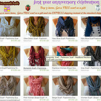 Fatwoman Scarves  Sale 990  1490 USD by fatwoman on Etsy-126