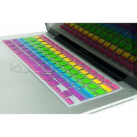 "Amazon.com: Kuzy - Rainbow Keyboard Silicone Cover Skin for MacBook / MacBook Pro 13"" 15"" 17"" Aluminum Unibody (fits MacBook with or w/out Retina Display), MacBook Air 13"": Computers & Accessories"
