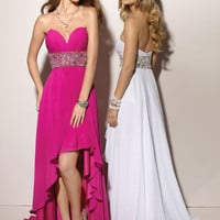 Chic Sweetheart Beaded Asymmetrical Chiffon Homecoming Dress free shipping