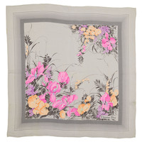 One Kings Lane - Objects of Desire - Dior Gray Floral Scarf