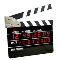 Big Size Movie Slate Digital LED Style Clocks