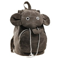Cute Elephant Canvas Backpack