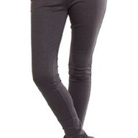 Amazon.com: Dark Grey Snake Zip Front Sexy Smart Fitted Skinny Stretch High Waist Leggings/Trousers Size 10-16: Clothing