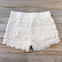 Easy Rider Shorts in Cream, Women&#x27;s Sweet Bohemian Clothing