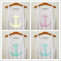 Anchor Cropped Tank/Anchor/Home/tank top/crop tank