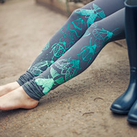Mint beetles- leggings