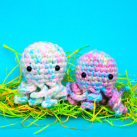 Easter Mini Octopus Amigurumi Plush - Perfect Plushie Easter Egg Treat