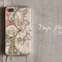 Apple iphone case for iphone iphone 5 iphone 4 iphone 4s iPhone 3Gs : World Map