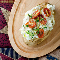 Baked Potato with Ricotta and Tomatoes - Framed Cooks