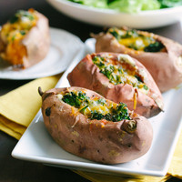 Broccoli Cheese Stuffed Sweet Potatoes | a Couple Cooks