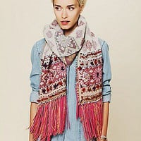 Free People Clothing Boutique > Leather Fringe Scarf