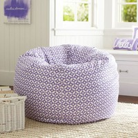 Petal Dot Purple Beanbag