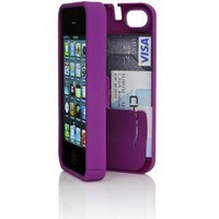 Amazon.com: Purple Case for iPhone 4/4S with built-in storage space for credit cards/ID/money by EYN (Everything You Need): Cell Phones & Accessories